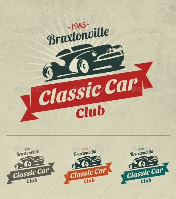 Classic Car Logo - Objects Logo Templates
