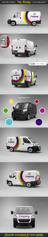 Van Car Mock-Up - Vehicle Wraps Print