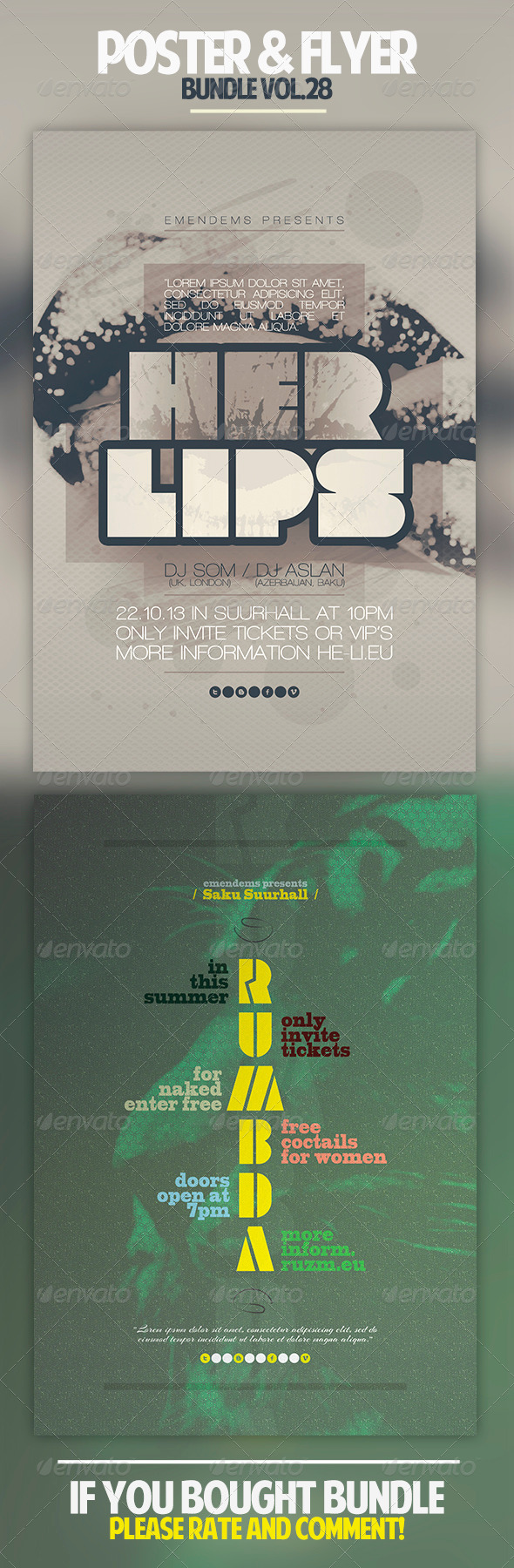 Poster & Flyer Bundle Vol.28 - Clubs & Parties Events