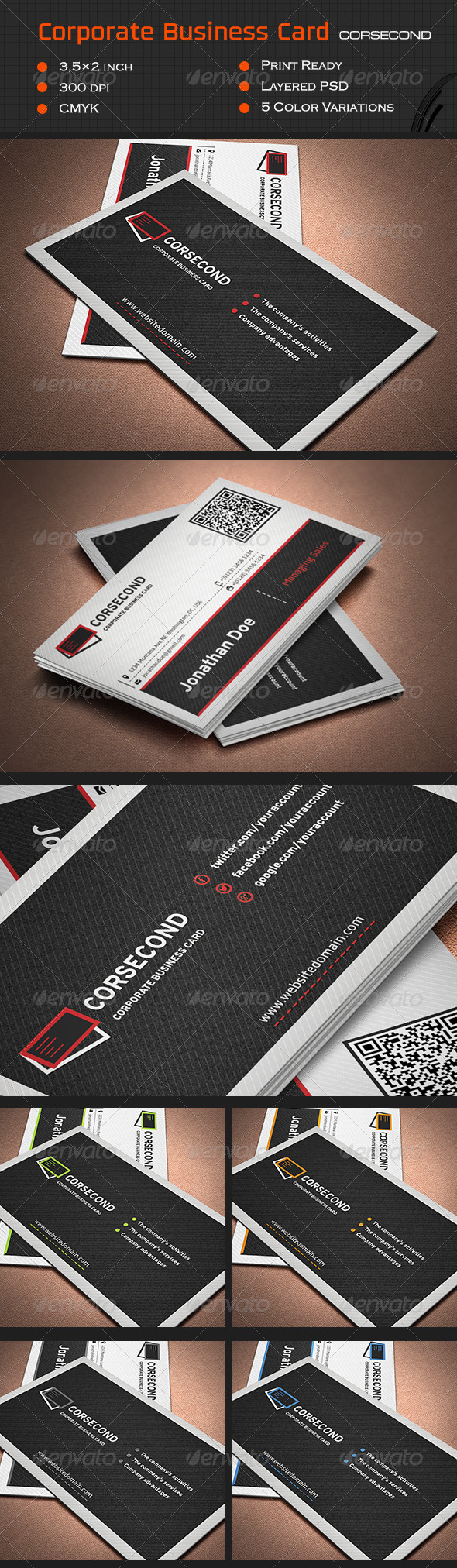 Corporate Business Card Cor2 - Corporate Business Cards