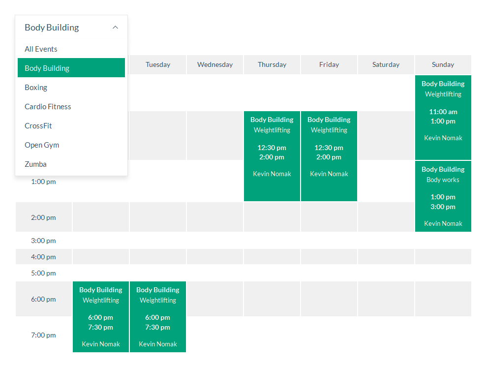 Timetable Responsive Schedule For WordPress by QuanticaLabs   CodeCanyon
