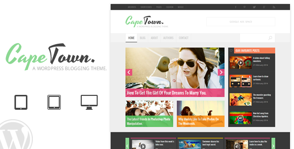 Cape Town - Blogging Theme - Blog / Magazine WordPress