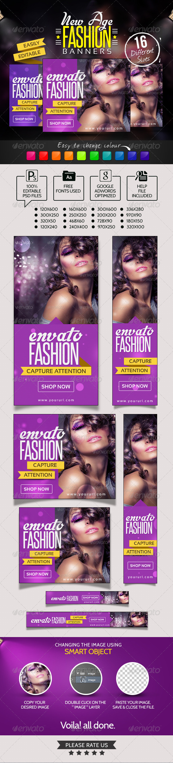 New Age Fashion Banners - Banners & Ads Web Elements