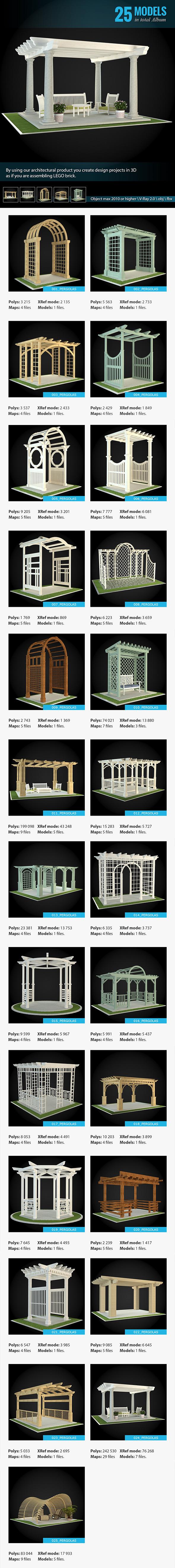 Pergolas Collection - 3DOcean Item for Sale