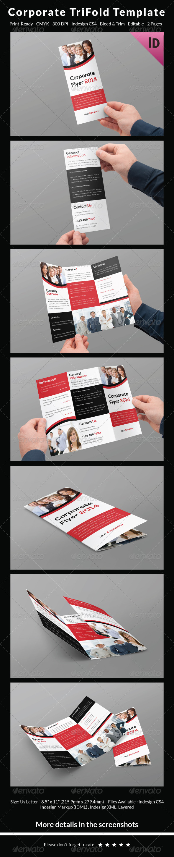 Corporate Trifold Template - Corporate Brochures
