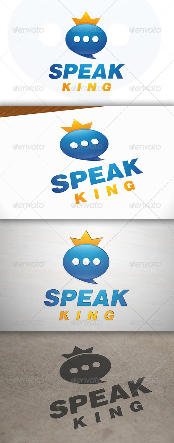Speak King Logo - Symbols Logo Templates