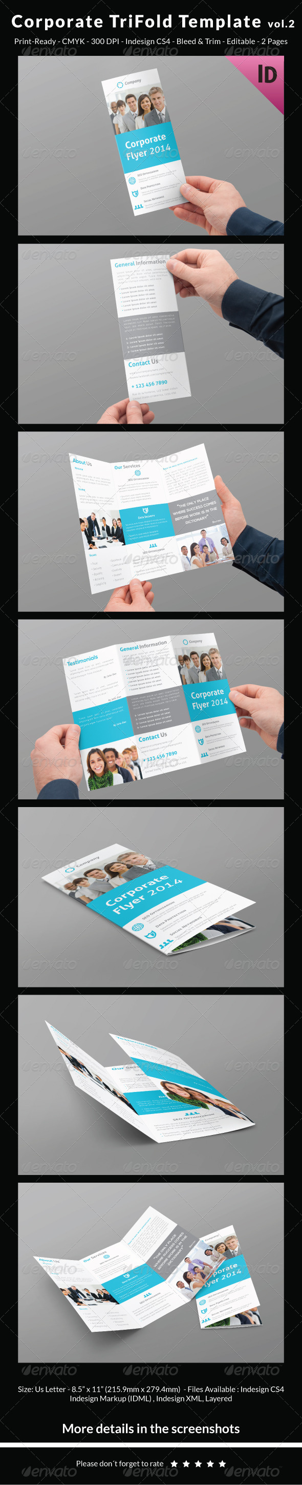 Corporate Trifold Template vol.2 - Corporate Brochures