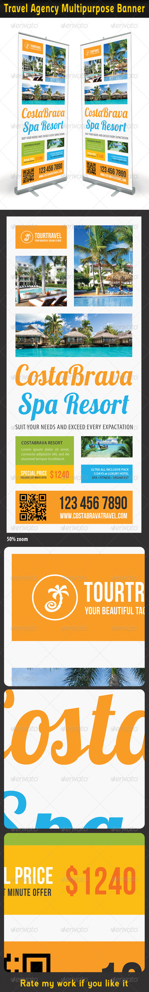 Travel Agency Banner Template 06 - Signage Print Templates