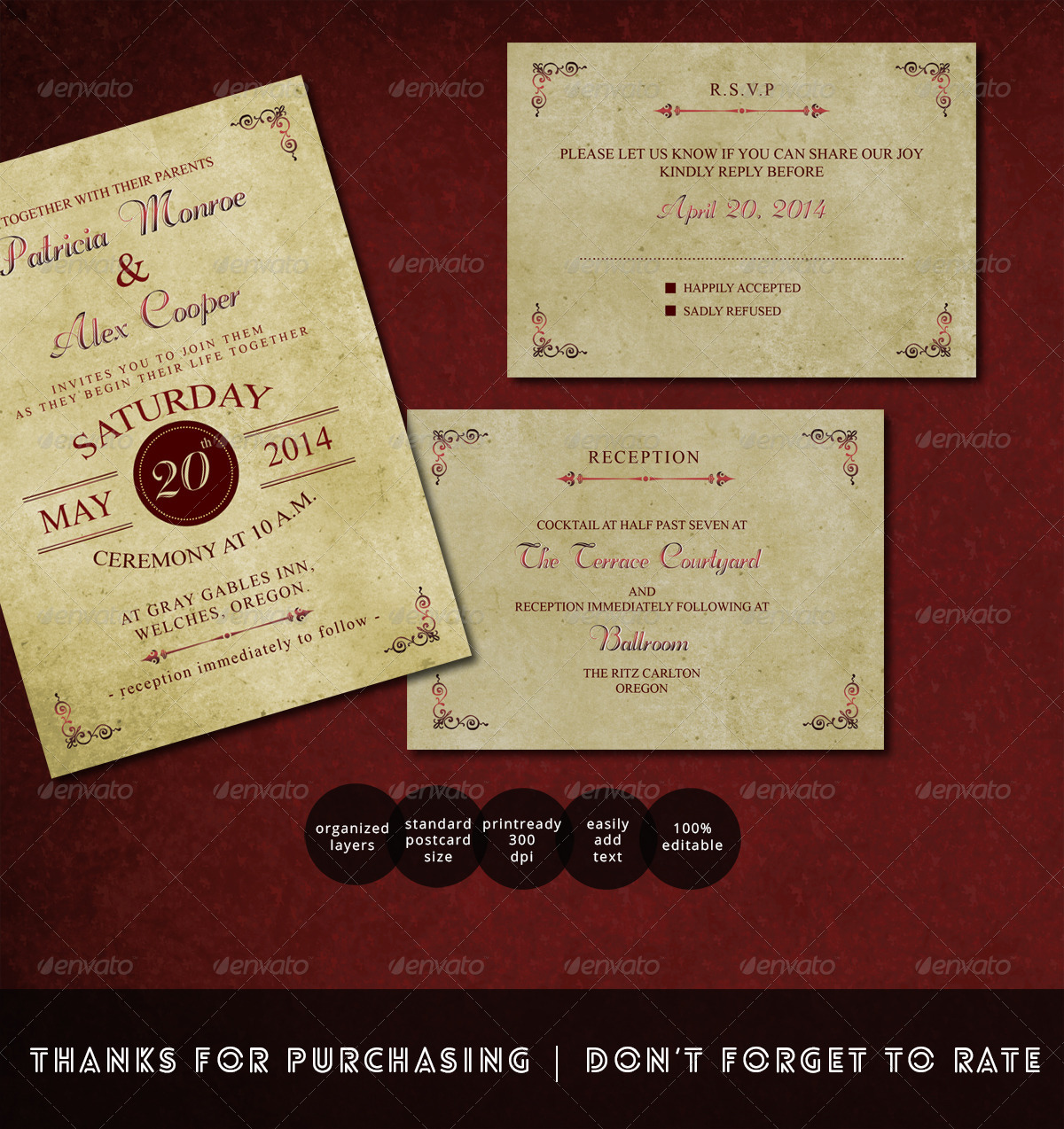 Vintage Wedding Invitation by kavutpal | GraphicRiver