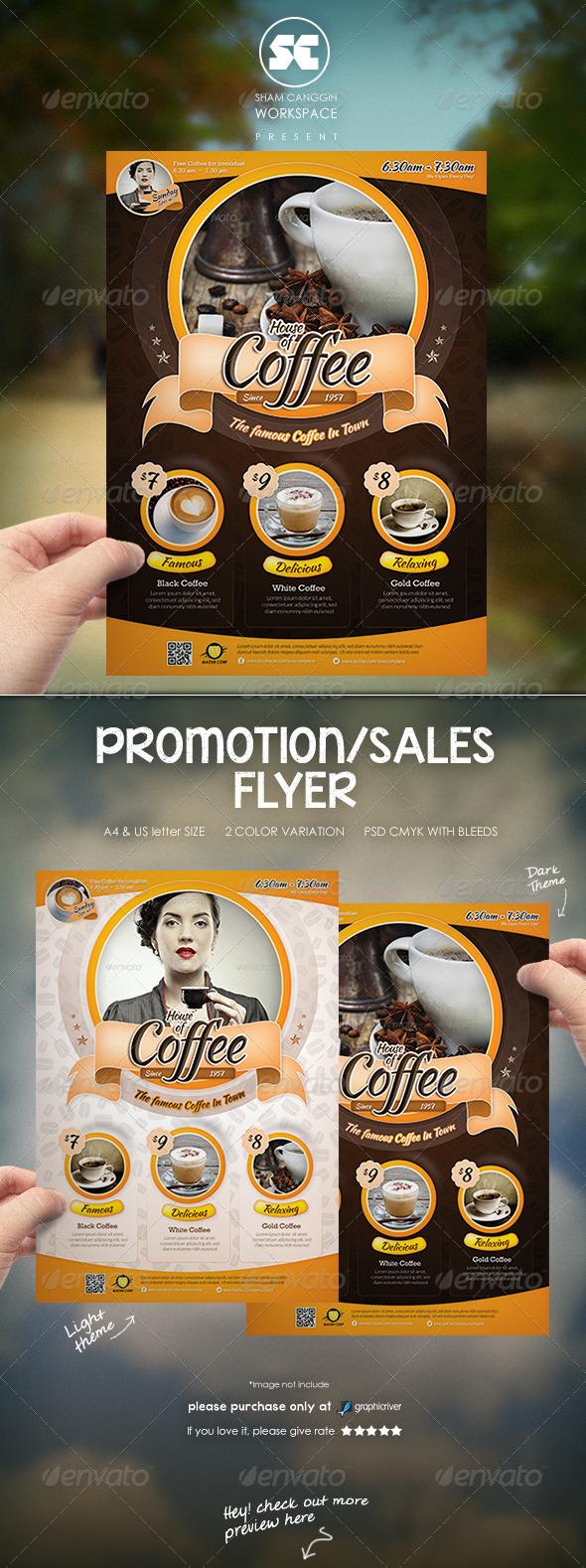 Modern Coffee House Flyer / Magazine Ads - Restaurant Flyers