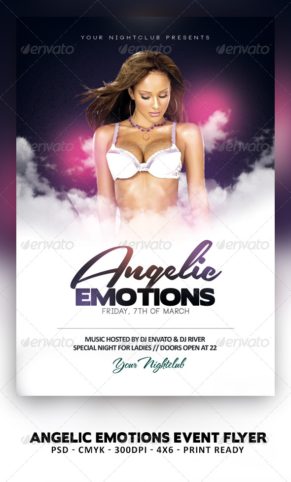 Angelic Emotions Flyer - Clubs & Parties Events
