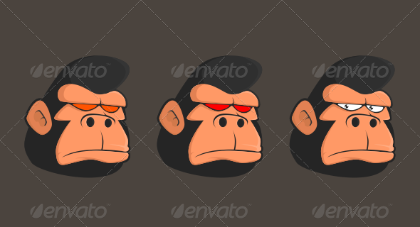 Gorilla Head - Animals Characters