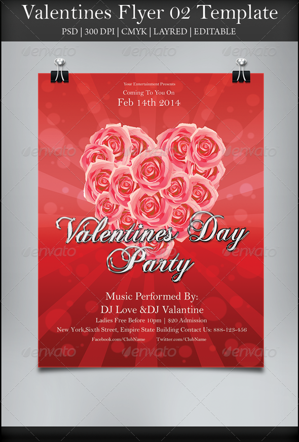 Valentines Flyer 02 - Holidays Events