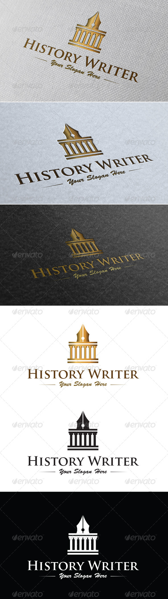 History Writer Logo Template - Buildings Logo Templates