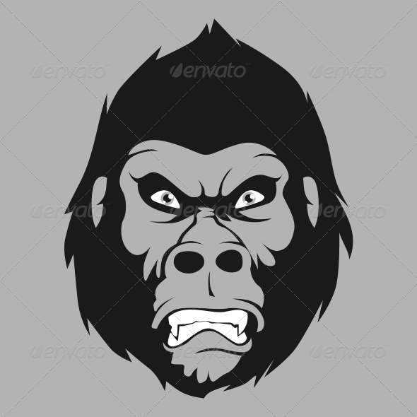 Angry Gorilla - Animals Characters