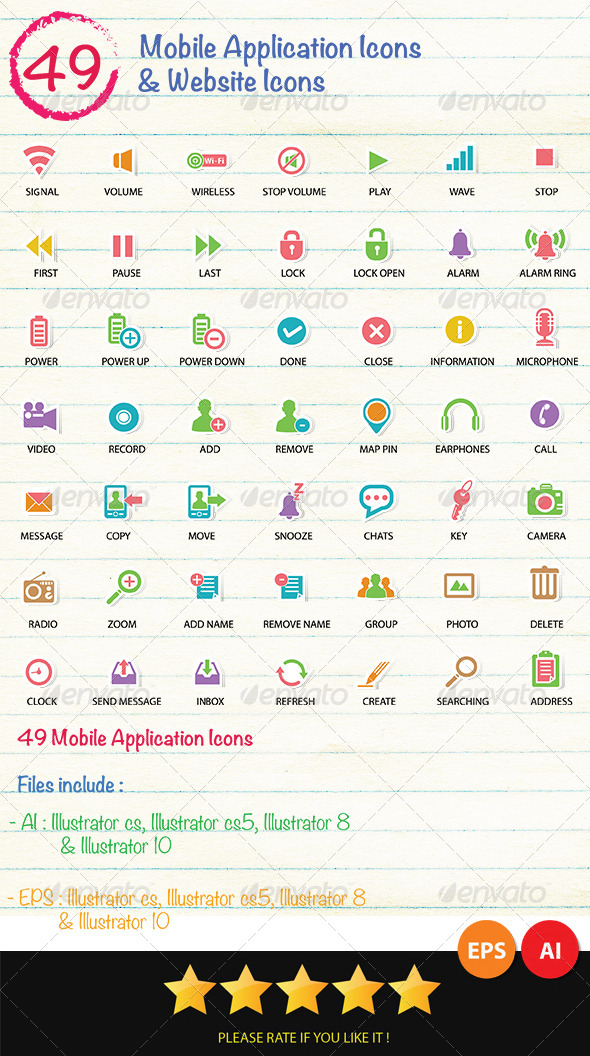 49 Mobile Application & Web Icons Icons - Technology Icons