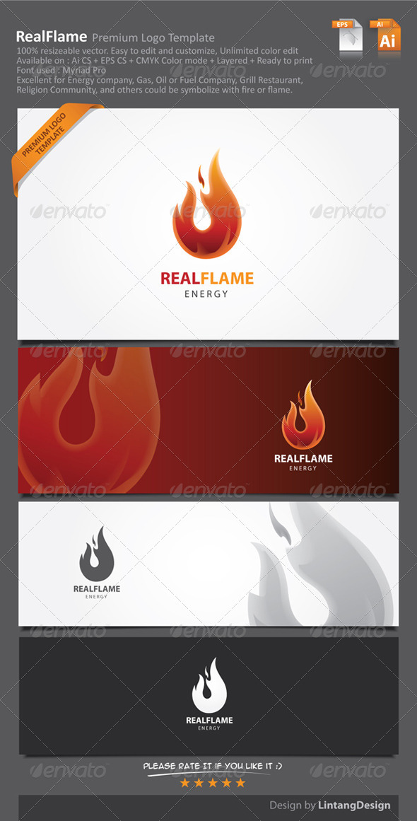 Fire Logo - Nature Logo Templates
