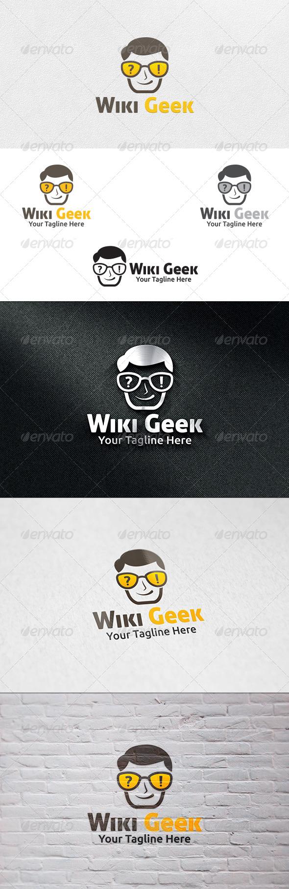 Wiki Geek - Logo Template - Humans Logo Templates