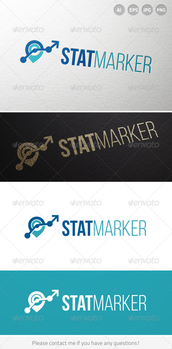 Stat Marker Logo - Abstract Logo Templates