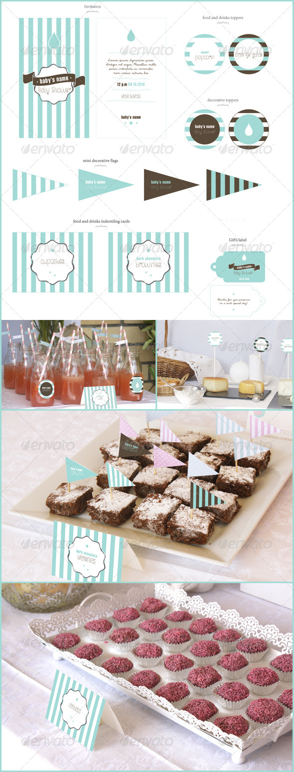 Baby Shower  - Cards & Invites Print Templates
