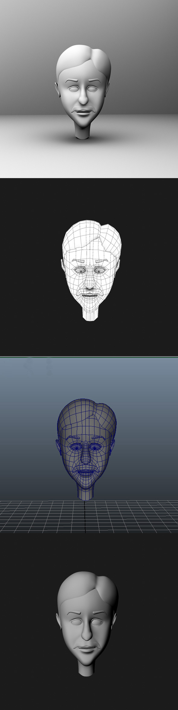 Base Mesh Cartoon Character  Head - 3DOcean Item for Sale