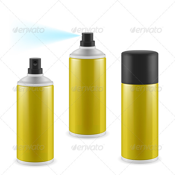 Golden Spray Cans - Miscellaneous Vectors