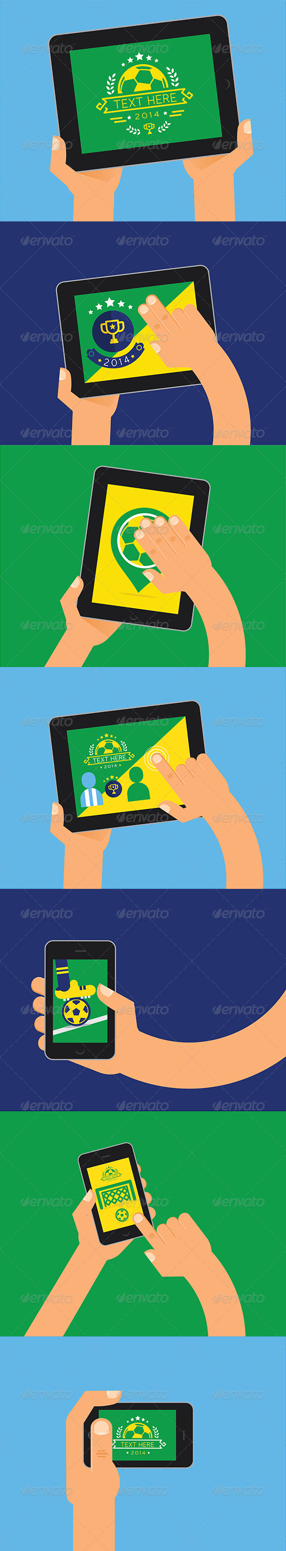 Soccer Tablets Brazil Design - Sports/Activity Conceptual