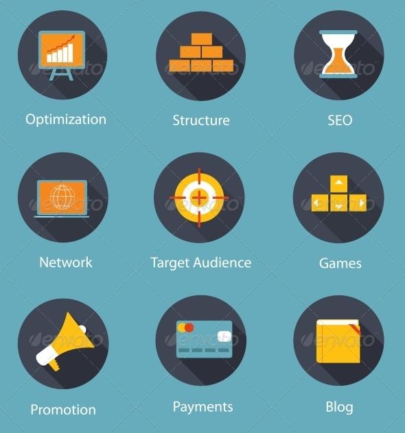 Set of Flat Icons - Web Technology