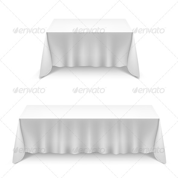 Two Tables with White Cloth - Miscellaneous Vectors