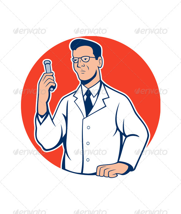 Scientist Lab Researcher Chemist Cartoon - People Characters