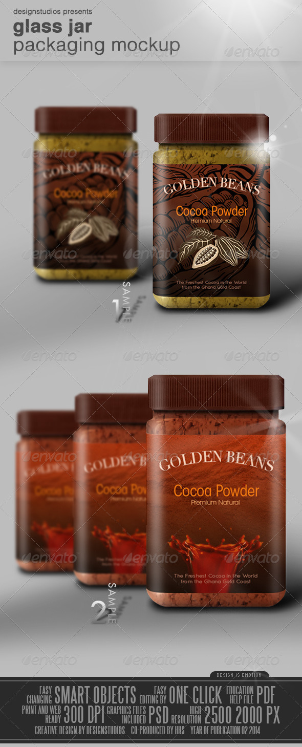 Glass Jar Packaging Mock-Up - Product Mock-Ups Graphics