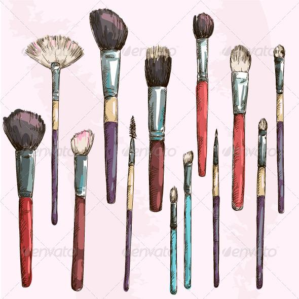makeup brush vector - photo #30