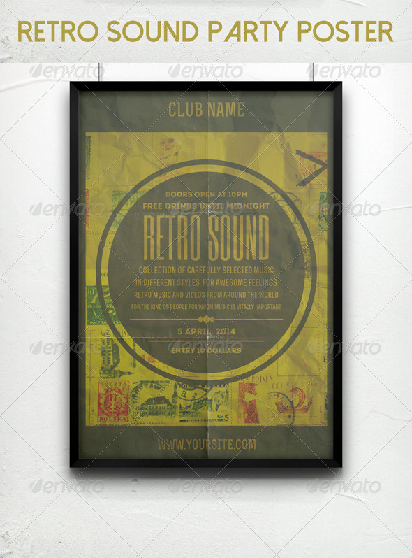 Retro Sound Party Poster - Clubs & Parties Events