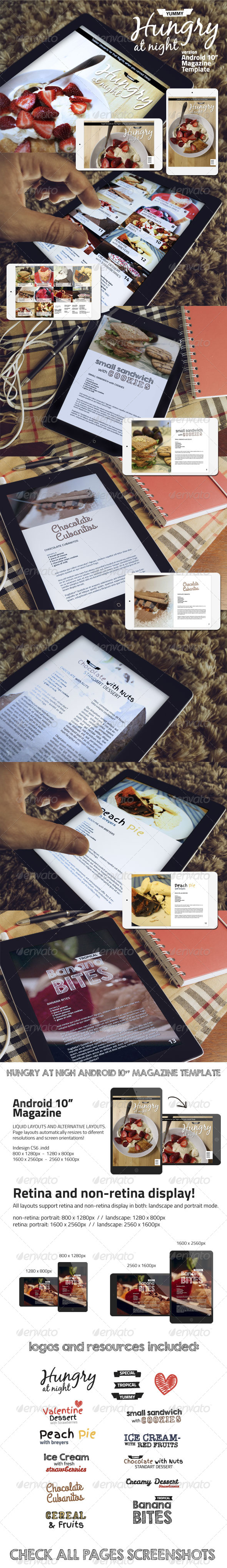 Hungry At Night Android Magazine Template  - Digital Magazines ePublishing