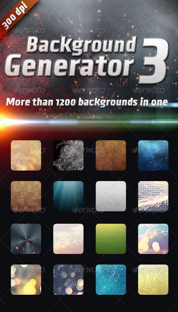Background Generator 3:1200 Backgrounds in 1 - Backgrounds Graphics
