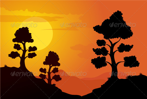 Mountain Sunset - Landscapes Nature