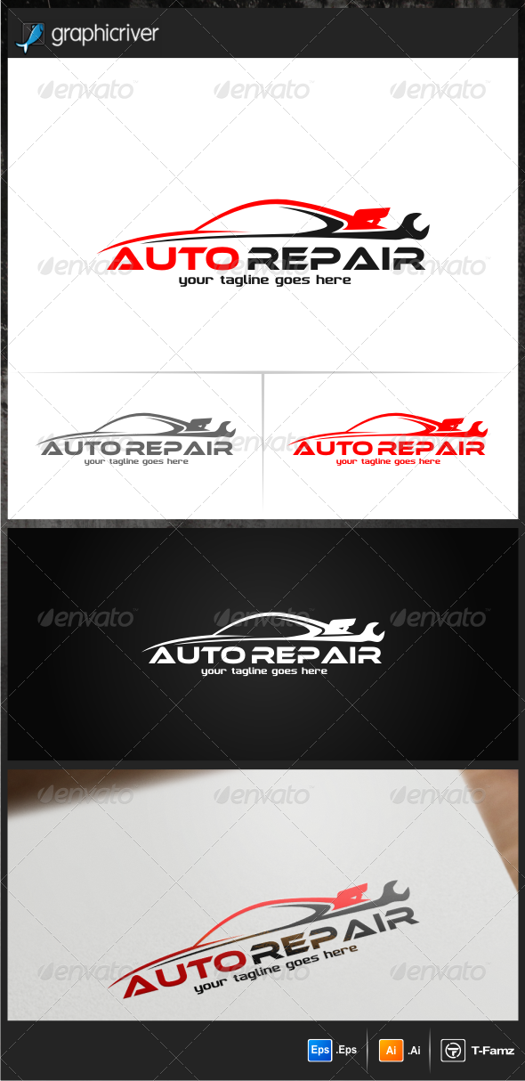 Auto Repair Logo Templates - Objects Logo Templates