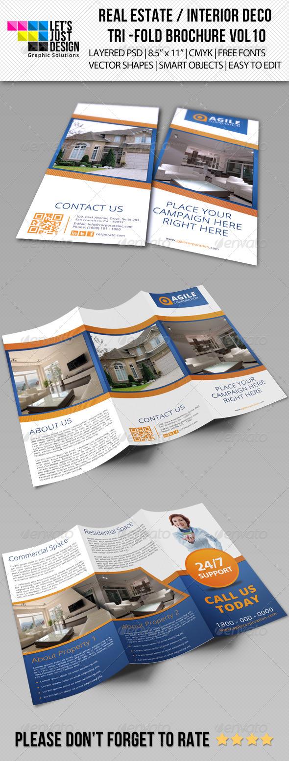 Creative Corporate Tri-Fold Brochure Vol 10 - Brochures Print Templates