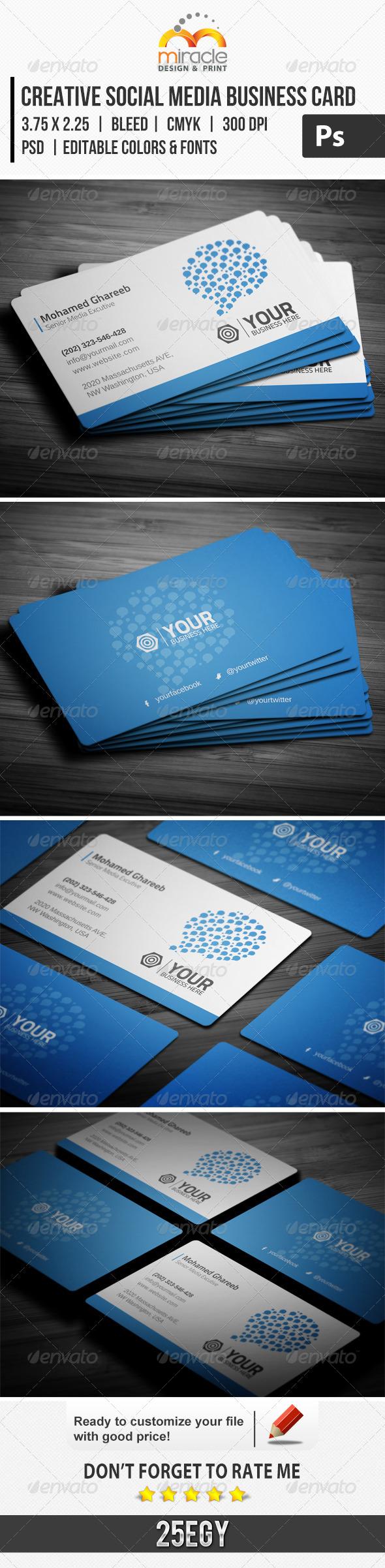Creative Social Media Business Card - Creative Business Cards