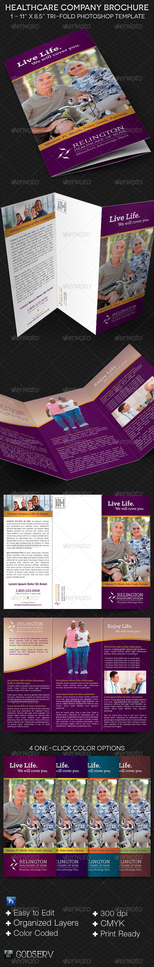 Healthcare Company Brochure Template - Informational Brochures