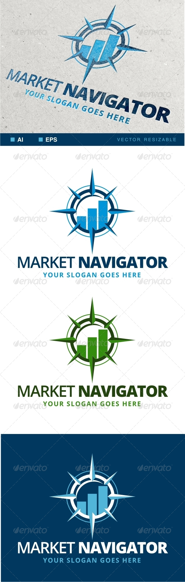 Market Navigation Logo - Objects Logo Templates