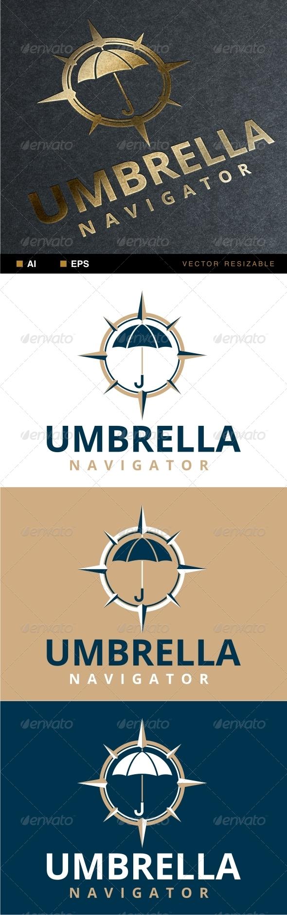 Umbrella Navigator Logo - Objects Logo Templates