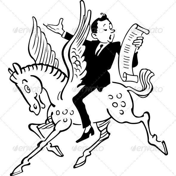 Poet on Pegasus - People Characters