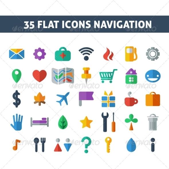 Navigation Icons - Web Elements Vectors