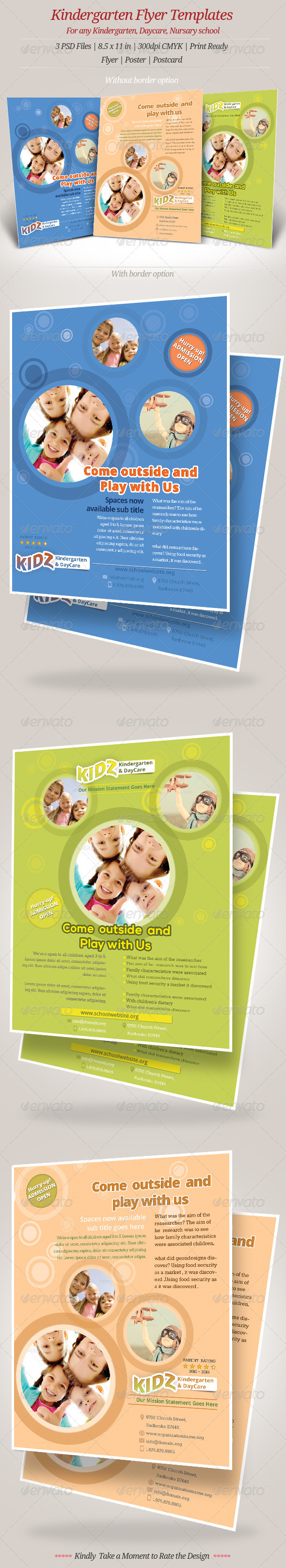 Kindergarten Daycare Flyer Templates - Events Flyers