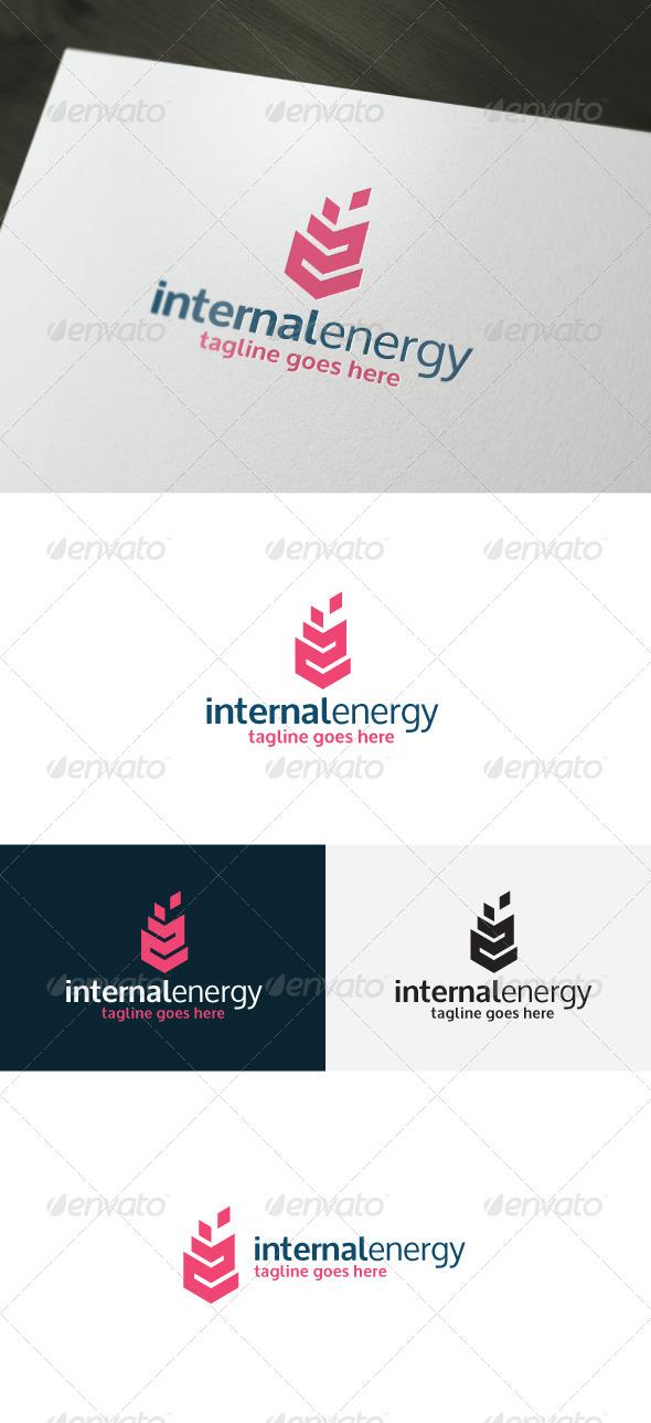 Internal Energy Logo - Vector Abstract