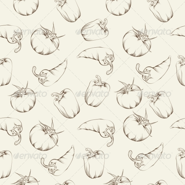 Vegetable Pattern - Flowers & Plants Nature