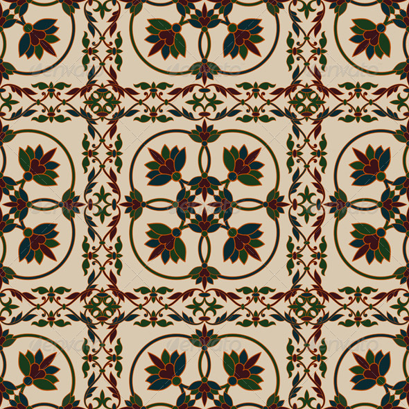 Vector Seamless  Vintage Floral Pattern - Patterns Decorative