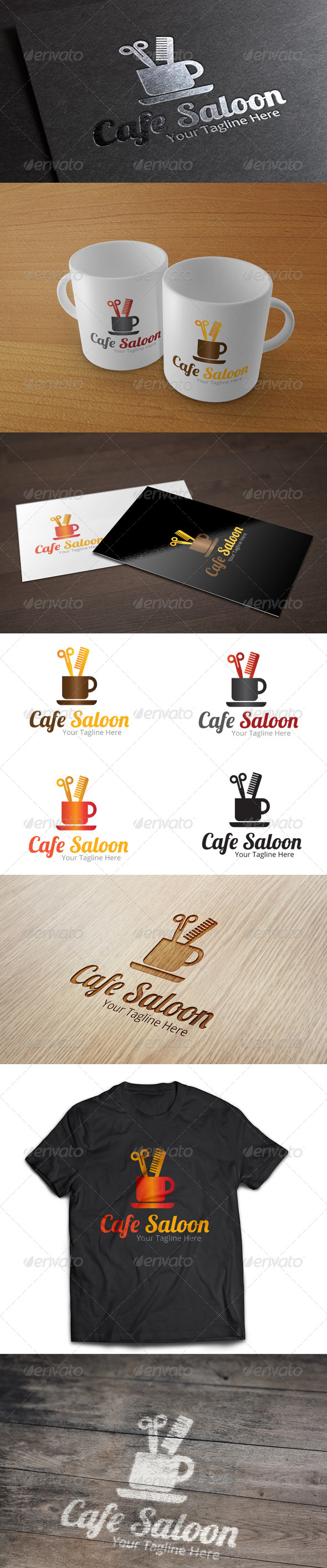 Cafe Saloon - Logo Template - Symbols Logo Templates