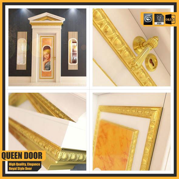 Queen Door - 3DOcean Item for Sale